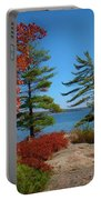 Windswept Point In Killbear Portable Battery Charger