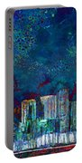 Windy Chicago Illinois Skyline Party Nights 20180516 Portable Battery Charger
