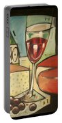 Wine And Cheese Imported Meal Portable Battery Charger