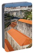 Wine Cellars In Vila Nova De Gaia By The Douro River Portable Battery Charger