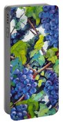 Wine On The Vine Portable Battery Charger by Richard T Pranke