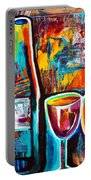 Wine Lovers Abstract Portable Battery Charger