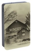 Winery In Sepia Portable Battery Charger