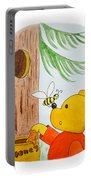 Winnie The Pooh And His Lunch Portable Battery Charger