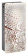 Winnipeg Street Map Colorful Copper Modern Minimalist Portable Battery Charger