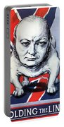 Winston Churchill Holding The Line Portable Battery Charger