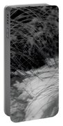 Winter Abstract Black And White Portable Battery Charger