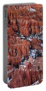 Winter Afternoon At Inspiration Point Bryce Canyon National Park  Utah Portable Battery Charger