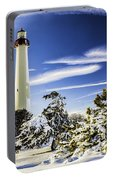 Winter At Cape May Light Portable Battery Charger