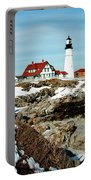 Winter At Portland Head Portable Battery Charger by Greg Fortier