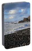 Winter At Sandymouth Portable Battery Charger