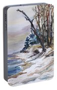 Winter At The Baltic Sea  Portable Battery Charger