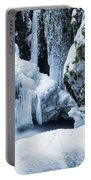 Winter At Virgin Creek Falls Portable Battery Charger