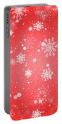 Winter Background With Snowflakes. Portable Battery Charger