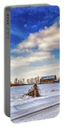 Winter Barn 3 - Paint Portable Battery Charger