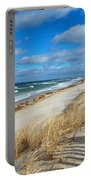 Winter Beach View Portable Battery Charger