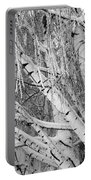 Icy Winter Birch Tree  Portable Battery Charger