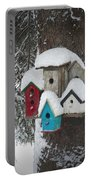 Winter Birdhouses Portable Battery Charger