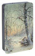 Winter Breakfast Portable Battery Charger