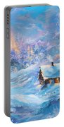 Winter Cabin Portable Battery Charger