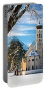 Winter Church In Bavaria Portable Battery Charger