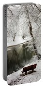 Winter Contemplation Watercolor Painting Portable Battery Charger