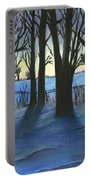 Winter Day's End Portable Battery Charger