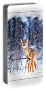 Winter Deer 1 Portable Battery Charger
