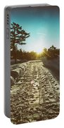 Winter Driveway Sunset Portable Battery Charger