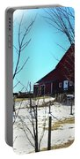 Winter Farm House Portable Battery Charger