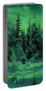Winter Forest Dream At Dusk Portable Battery Charger