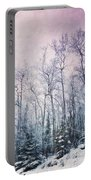 Winter Forest Portable Battery Charger by Priska Wettstein