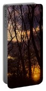 Winter Forest Sunrise Portable Battery Charger