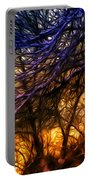 Winter Forest Sunset Oil Style Portable Battery Charger