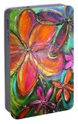 Winter Glow Flower Painting Portable Battery Charger