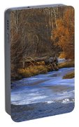 Winter Gold On The Yakima River Portable Battery Charger