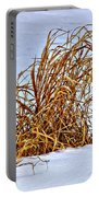 Winter Grasses Portable Battery Charger