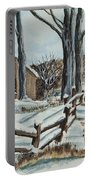 Winter Grazing  Portable Battery Charger by Charlotte Blanchard