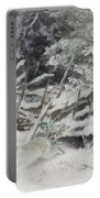 Winter Hare At The Fence Portable Battery Charger