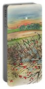 Winter Hedgerow Portable Battery Charger