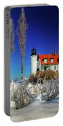 Winter Ice At Point Betsie Portable Battery Charger