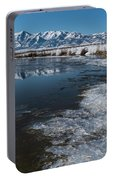 Winter Ice Flows Portable Battery Charger