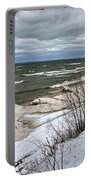 Winter Ice On Lake Michigan Ll Portable Battery Charger