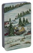 Winter In East Chatham Vermont Portable Battery Charger