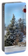 Winter In Pequot Lakes Portable Battery Charger