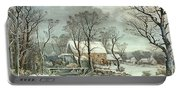 Winter In The Country - The Old Grist Mill Portable Battery Charger