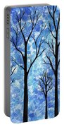 Winter In The Woods Abstract Portable Battery Charger