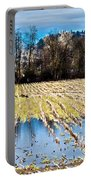 Winter In Washington Fields Portable Battery Charger