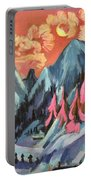Winter Landscape In Moonlight Portable Battery Charger by Ernst Ludwig Kirchner