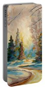 Winter Landscape Knowlton Quebec Portable Battery Charger